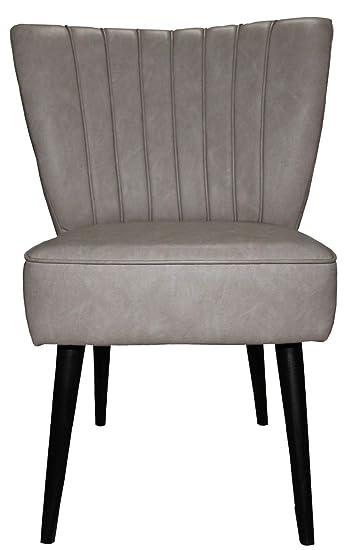 Casa Padrino 50er Jahre Retro Salon Sessel Grau Khaki