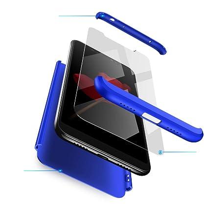 Funda XiaoMi Mi 8 Carcasa XiaoMi Mi 8 con [ Protector de Pantalla de Vidrio Templado ] 3 en 1 Desmontable XiaoMi Mi 8 Funda Protectora - pulgada 360 ° ...