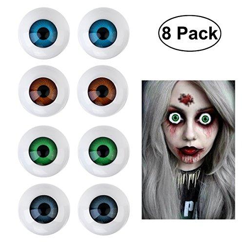 BESTOYARD 8 Hollow Eyeball Mask Halloween Horror Props Costume Plastic Eyeballs for Halloween ()