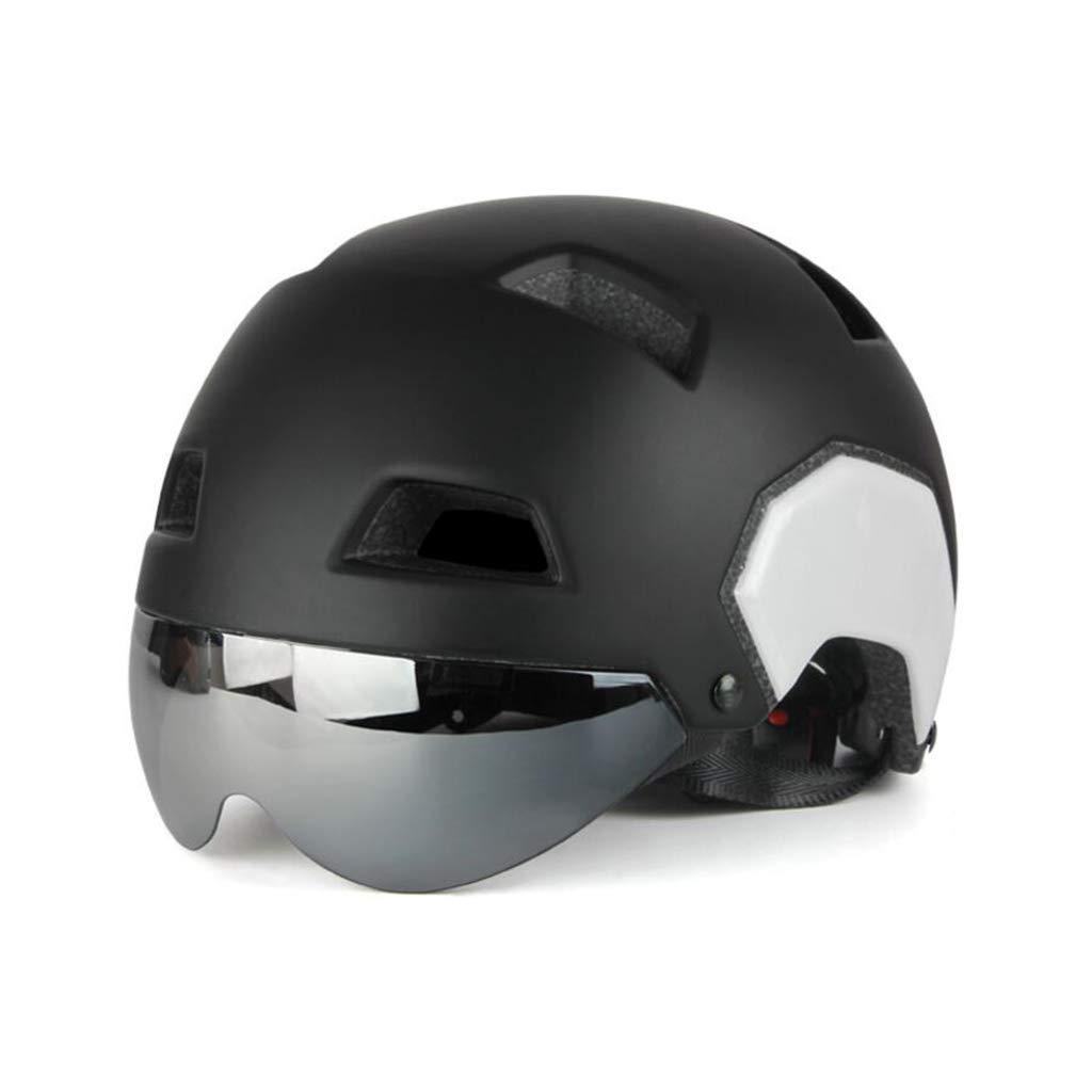 【有名人芸能人】 ヘルメット サイクルヘルメット、ロードマウンテンバイクヘルメット軽量専門男性女性乗馬ヘルメットバイクレーシング安全キャップ付きゴーグル ブラック B07PWCKKZH ヘルメット ブラック ブラック ブラック, アコースティック:8ed17525 --- a0267596.xsph.ru