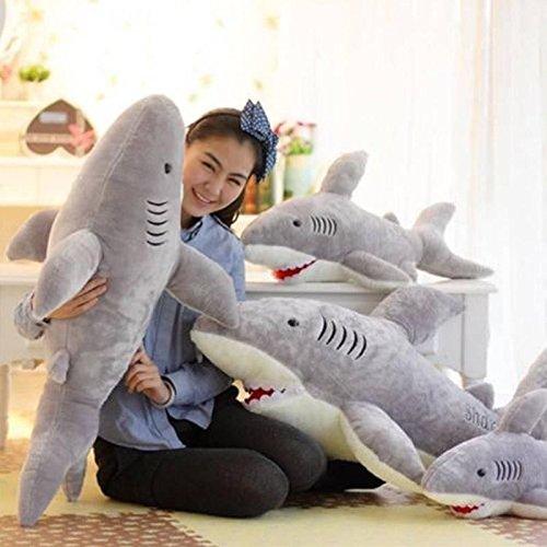 1X 70cm Cute Shark Shaped Plush Toy Pillow Back Cushion Doll Gift Animal Bolster