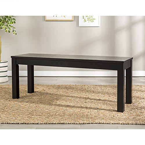 "WE Furniture 48"" Homestead Wood Dining Bench - Black"