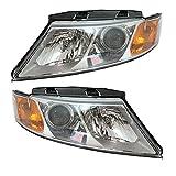 Koolzap For 09-10 Optima Front Headlight Headlamp Head Light Lamp Chrome Trim Set Pair