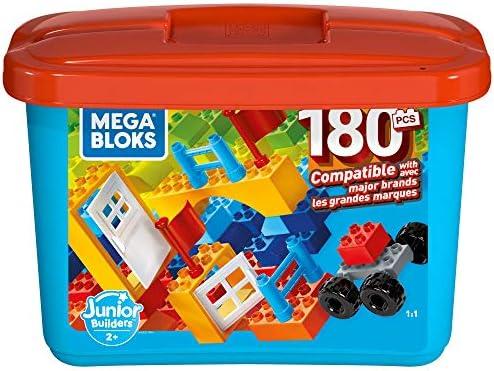 Mega Bloks GJD22 Kleine Bausteinebox mit 180 Teilen, Box mit Bausteinen für Kinder, Spielzeug ab 2 Jahren