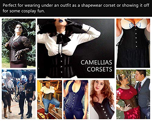 04d45c6c3 Camellias Women s 26 Steel Boned Heavy Duty Waist Trainer Corset Shaper for  Weight Loss