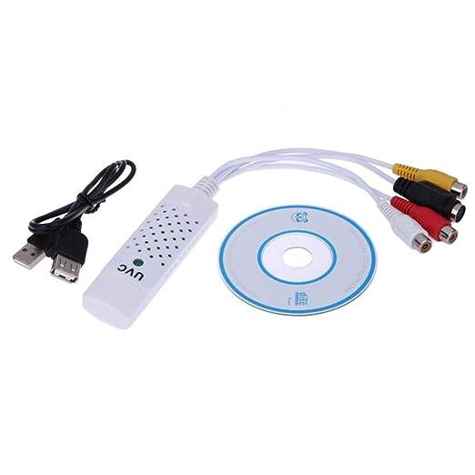 Busirde USB 2.0 Tarjeta de Captura de vídeo DVR Audio Cable ...