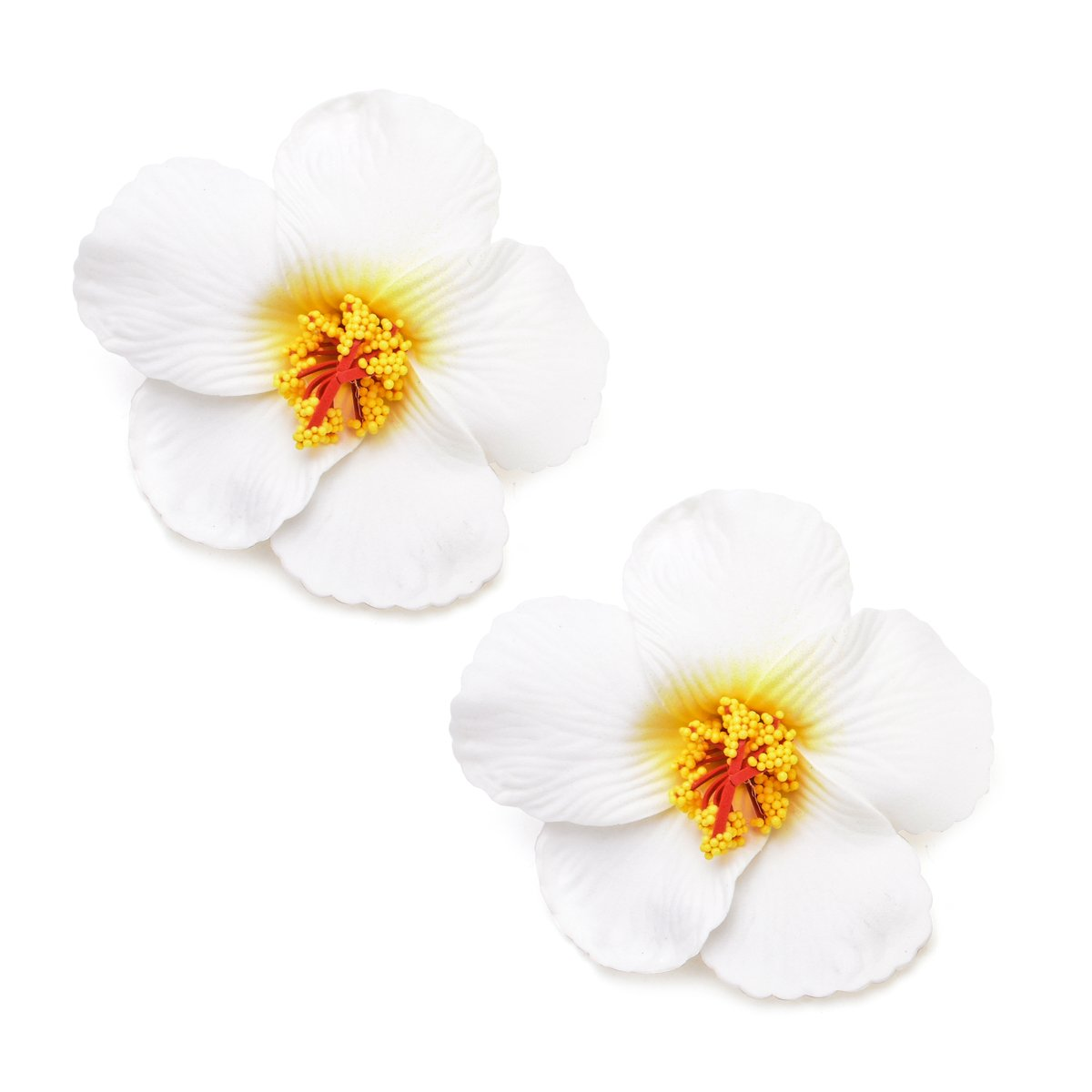 Amazon Hawaiian Hibiscus Flower Hair Clip White Beauty
