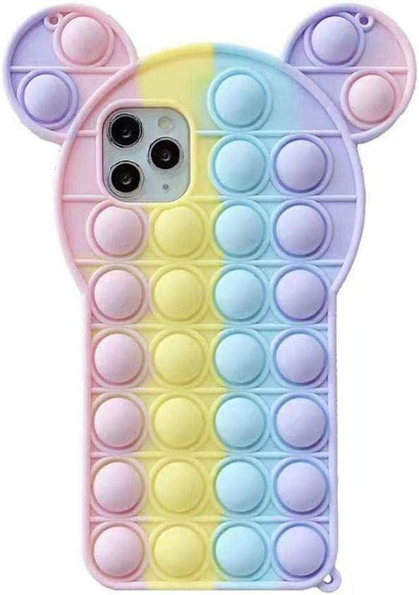 Push Pop Bubbles for iPhone 6 / 6S / 7/8 Mickey Mouse Case, Soft Silicone Phone Case Bubble Fidget Sensory Toy Funny Pop Fidget Toy Phone Protective Case Cover Case for iPhone