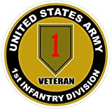 1 Pc Grandiose Fashionable U.S. Army 1st Infantry Division Veteran Stickers Signs Decor Wall Windows Size 4.5