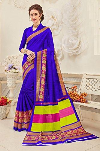 Da Facioun Sari Indiani Per Le Donne Di Nozze Partito Bluedesigner Usura Tradizionale Sari In Bhagalpuri Blu