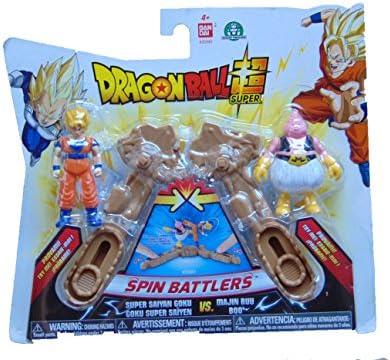 DRAGON BALL - DRAGONBALL GOKU SUPER SAIYAN - SAYAN - E MAJIN BUU BOO SPIN BATTLERS BLISTER DOPPIO: Amazon.es: Juguetes y juegos