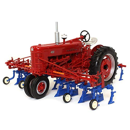 Spec Cast Farmall 400 Tractor w/ 4 Row Cultivator - Tractor Agricultural
