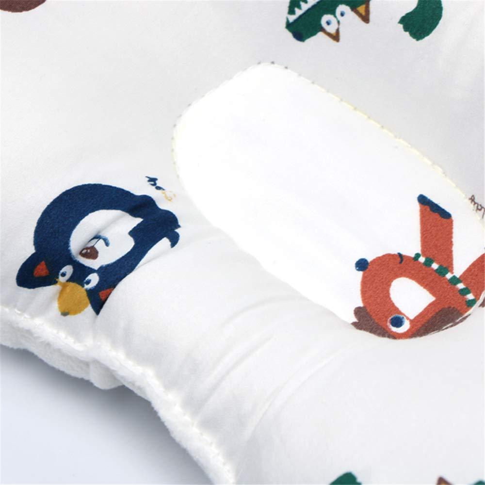 Baby Kopfkissen gegen Kopfverformung Vorbeugung /& Korrektur von Sch/ädel-Verformung Beide Seiten verf/ügbar NIUXUAN Baby Kissen Auto Orthop/ädisches Babykissen gegen Plattkopf