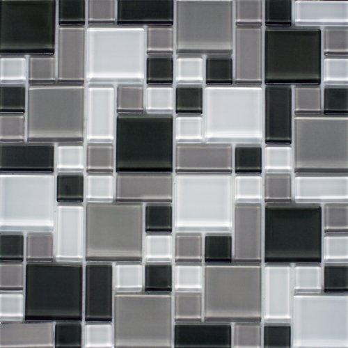 Instant Mosaic Peel'N'Stick 6 sq.ft. Glass Mosaic Wall Ti...