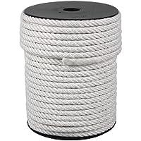 Cofa touw van nylon met 4 strengen mat 450 kg. 6 mm x 200 m wit