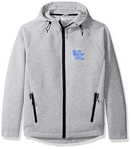 ts Adult Men Titan Insignia Full Zip Hooded Jacket, Large, Heather Pebble (Kentucky Wildcats Fan)