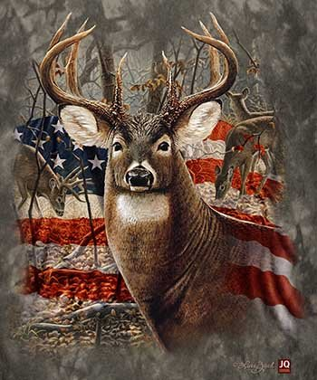 Signature Collection Queen Size Americana Deer Heavy Weight