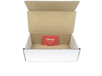 Pack de 50 Cajas de Cartón Automontables en Canal Simple y Color Blanco. Para Mudanzas y Envíos. Alta Calidad y Resistentes. Tamaño 21 x 10 x 7 cm. ...