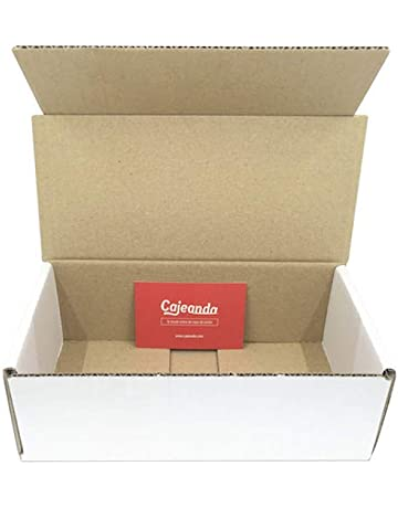 Pack de 50 Cajas de Cartón Automontables en Canal Simple y Color Blanco. Para Mudanzas