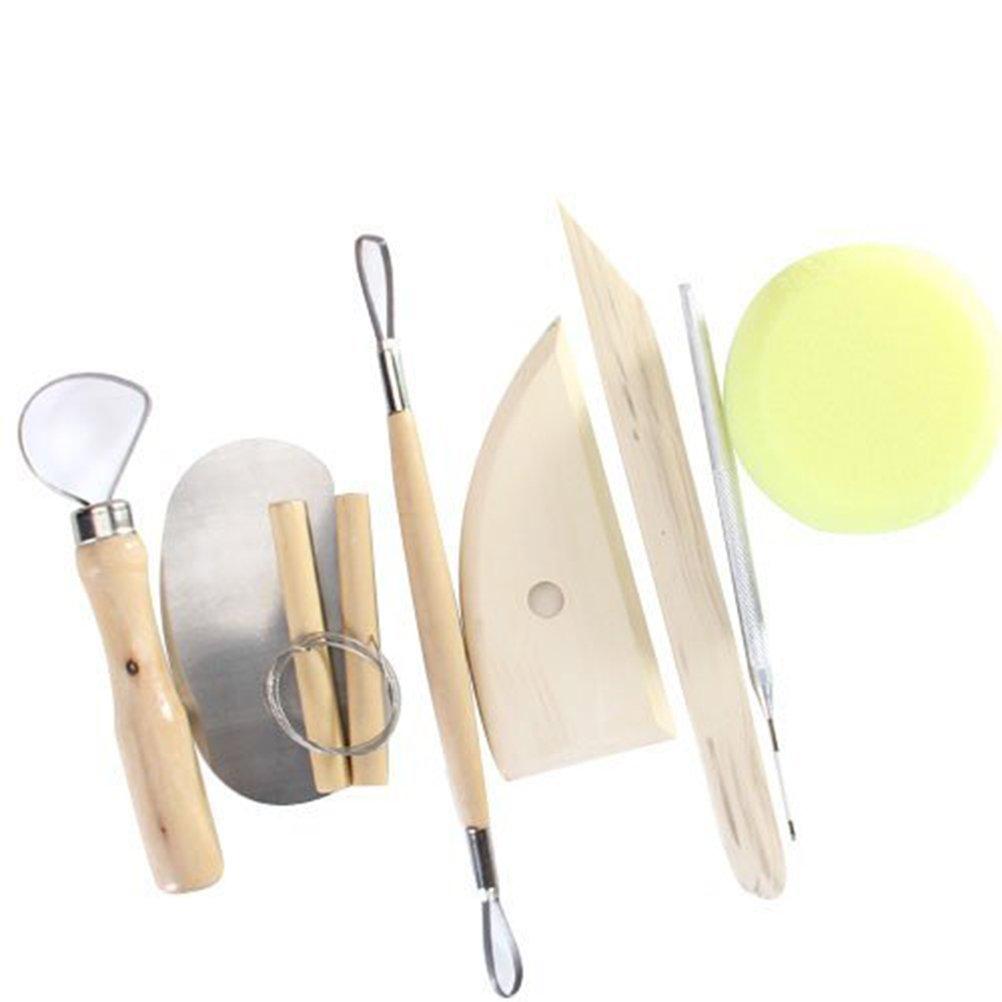 ROSENICE Argilla di ceramica modellismo Scultura Set di utensili per la lavorazione 8pcs