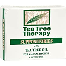 Pack of 3 x Tea Tree Therapy Vaginal Suppositories with Tea Tree Oil - 6 Suppositories
