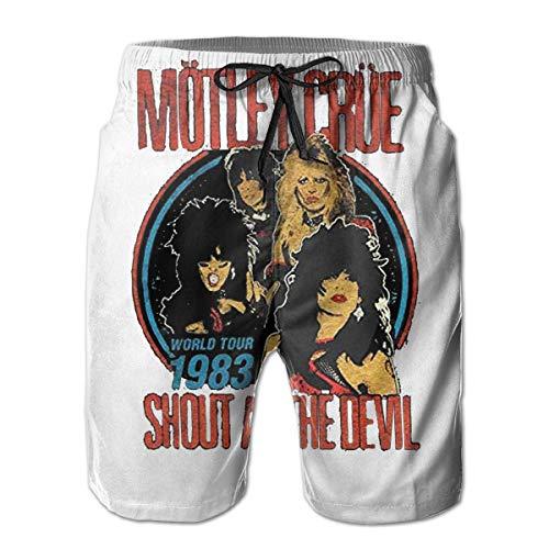 Custom Art Men's Classic-fit Stretch Golf Short - Motley Crue Vintage Shout at The Devil