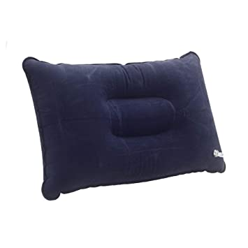 SODIAL Almohada de flocado Almohada plegable portatil inflable de ...