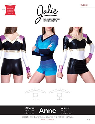 Jalie Anne One Piece Cheerleading Uniform Bodysuit Sewing Pattern 3466