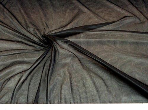 Discount Fabric nylon Tricot Black 15 denier Lustre SheerTM
