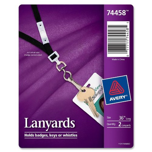 Avery Neck Hanging Lanyards, Pack of 2 (74458)