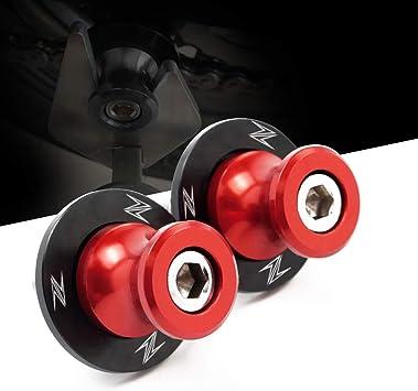 M10 10mm Schwingenschutz Schwingenadapter Ständer Bobbins Spool Racingadapter Ständeraufnahme Rot Passend Für Kawasaki Z250 Z300 Ninja 250 300 Z750 Er4n Versys 650 1000 Ninja 750r Z1000 Z1000sx Zx14 Auto