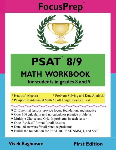 PSAT 8/9 MATH Workbook: for students in grades 8 and 9. (FocusPrep)