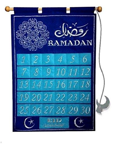 Ramadan Blue Jewel Tracker/ count down Ramadan Calendar