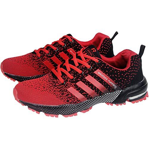 Fitness Chaussures Femme Sneakers Wealsex Et De Rouge Tennis Homme 46 Noir Basket Entraînement Course 35 Running Sport Trail Compétition PdRdSq