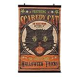 Bethany Lowe Designs Scaredy Cat Scroll Halloween Decoration
