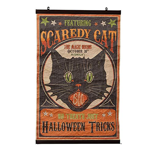 Bethany Lowe Designs Scaredy Cat Scroll Halloween Decoration ()