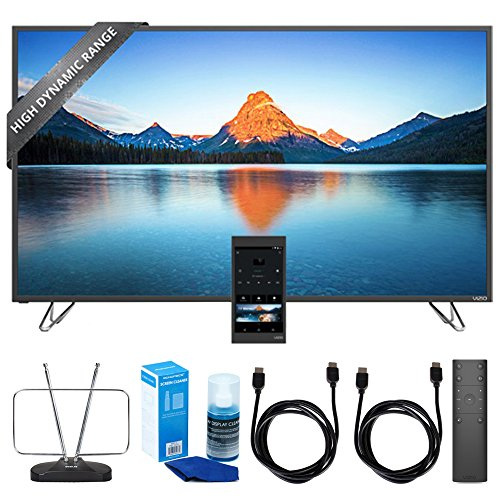 """Vizio 60"""" 4K SmartCast M-Series Ultra HD HDR TV Home Theater Display (M60-D1) w/ TV Cut the Cord Bundle Includes, Durable HDTV & FM Antenna, Universal Screen Cleaner & 2x 6ft High Speed HDMI Cable"""