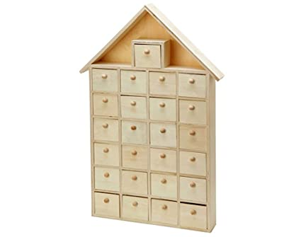 Sale Large Wooden Advent House Calendar To Decorate For Christmas