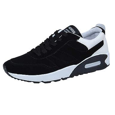ZODOF Zapatillas Deporte Hombre Zapatos para Correr Athletic Cordones Air Cushion Running Sports Sneakers Negro Blanco Rojo: Amazon.es: Ropa y accesorios
