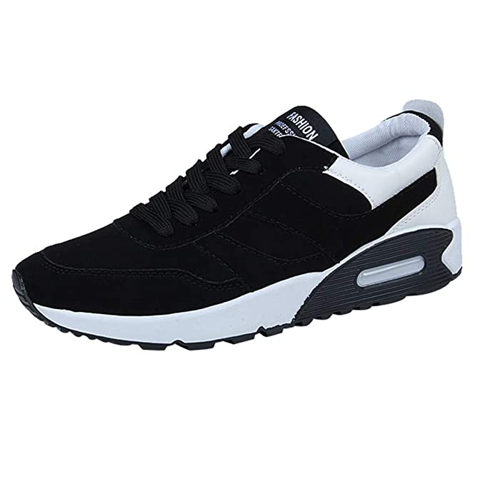 ZODOF Zapatillas Deporte Hombre Zapatos para Correr Athletic Cordones Air Cushion Running Sports Sneakers Negro Blanco Rojo: Amazon.es: Ropa y accesorios