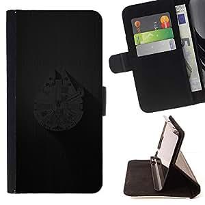 Momo Phone Case / Flip Funda de Cuero Case Cover - Millenium Falcoln Barco;;;;;;;; - Sony Xperia Z1 L39