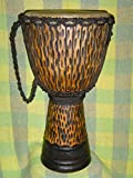 SALE - HANDMADE 24'' X 14'' Djembe Deep Carved Hand Drum Bongo CHEETAH - Model # 60m20