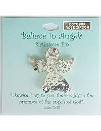 Cathedral Art Birthstone Angel Pins