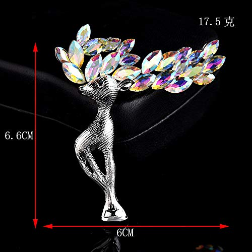 For Women Gift Garment Accessories Lapel Pin Metal Brooch Fashion Jewelry -