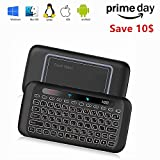 Colorful backlit Mini Wireless Keyboard H20 with Touchpad Mouse Combo,7 Color Adjust Auto-rotation of Touch Panel handheld Remote Control,Li-ion Battery Air Remote Mouse for PC,Android Tv Box,HTPC.IPT
