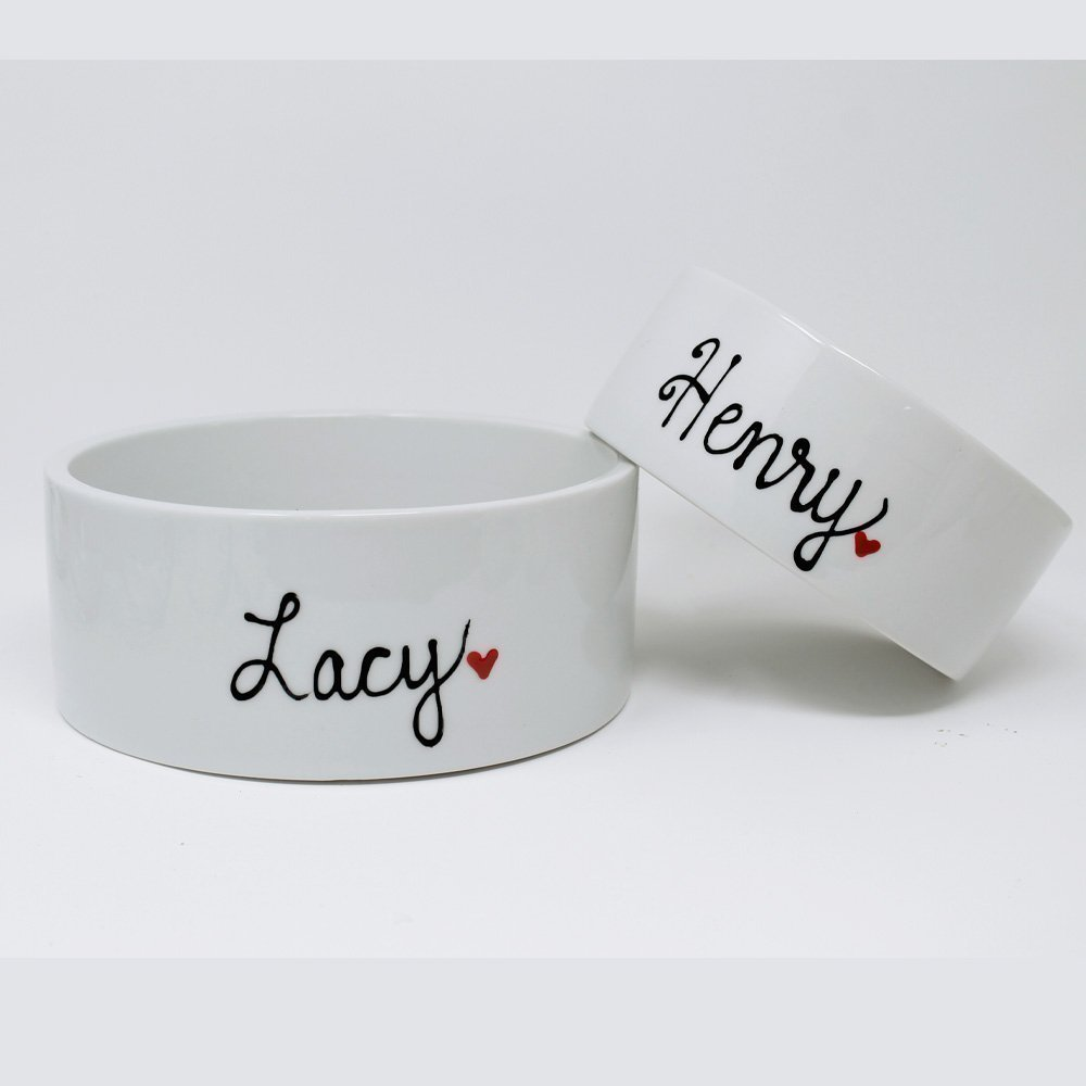 Personalized Large Pet Bowl, Dog or Cat Feeding or Water Bowl Custom with Pets Name