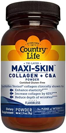 Country Life - Tri-Layer Maxi-Skin Powder, Includes Verisol Collagen - 2.74 Ounce