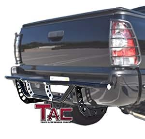 tac evo33310 2007 2015 toyota tundra rear bumper guard protection nerf push bar. Black Bedroom Furniture Sets. Home Design Ideas