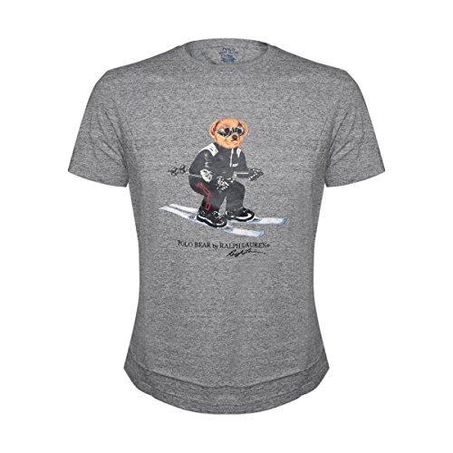 Polo Ralph Lauren Men's Limited Edition Polo Bear Short Sleeve T-Shirt (Grey Heather, Large) ()