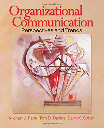 Organizational Communication Perspectives and Trends